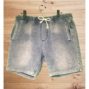 DIVIDED H&M Blue Heather Sweat Shorts! 3 Pockets